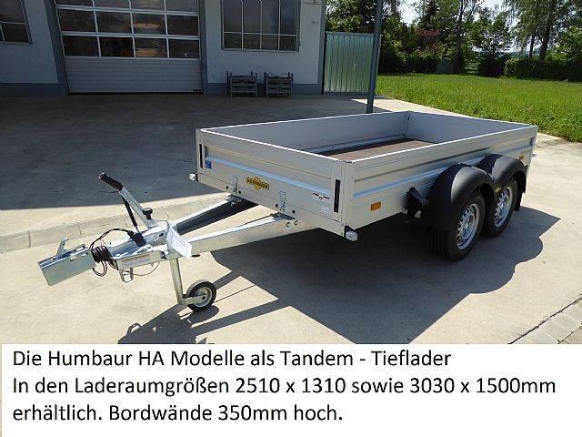 Humbaur HA253015, Tandemanhänger 2,5to Tieflader
