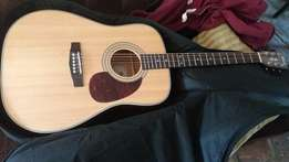 Cort Earth Acoustic Guitar with onboard preamp & extras