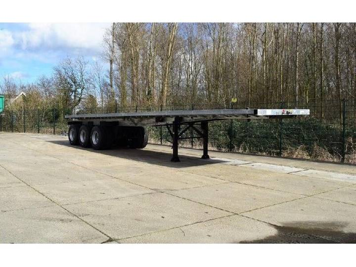 """TMH - 3-50 Flatbed trailer with 20 and 40"""" twistlocks - 2019"""