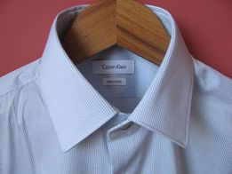 7000bdbf01c49 Oryginalna nowa koszula Calvin Klein męska extra slim rozmiar 37 CK