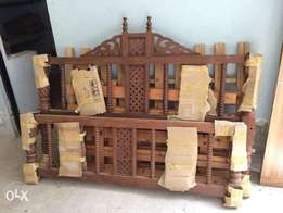 Solid wood bed 6x6 for sale