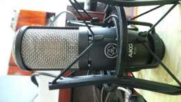 Akg p220 studio recording microphone with shock mount