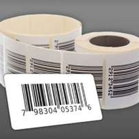 Barcode printing labels at 1800 per roll.