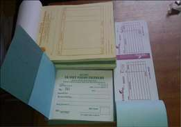 receipt books,and invoices