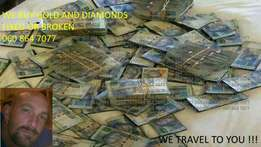 Money for gold and diamonds