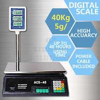 New 5g/40kg Electronic Computing Platform Digital Scale Weight Shop Po
