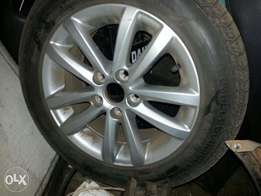 oem polo vivo rims and continental tires