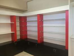 Good condition shop display shelving for sale by owner