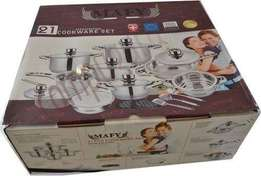 21PCS Mafy Swiss Cookware Set R1499 Including Delivery (Up to 50%OFF)