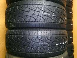 255/60/R18 pirelli on special for sale. Tyres in a good condition
