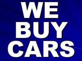 Cars wanted for cash: Any condition