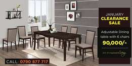 Easy to maintain six seater dinning table with best finishing.