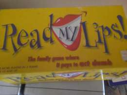 Read my lips card game