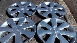 Clean set of Nissan micra wheel covers for sell 14 inches