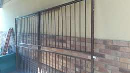 Steel sliding security gate