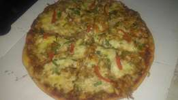 Fresh pizza for occasion and more