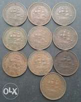 x10 S.A half pennies (1940 to 1953)