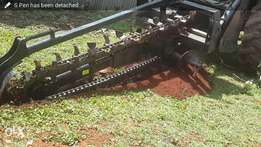 Trencher. Tractor driven