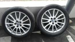 Volvo and Ford mags and tyres for sale
