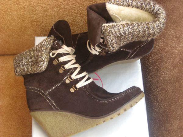 Замшевые ботинки Италия ботинки на меху на танкетке замша коричневые Київ -  зображення 1 df9091c135ae7