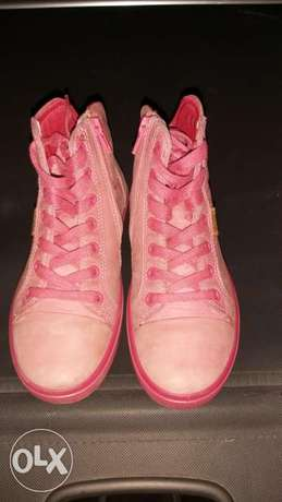 Ecco half boot size 33 pink