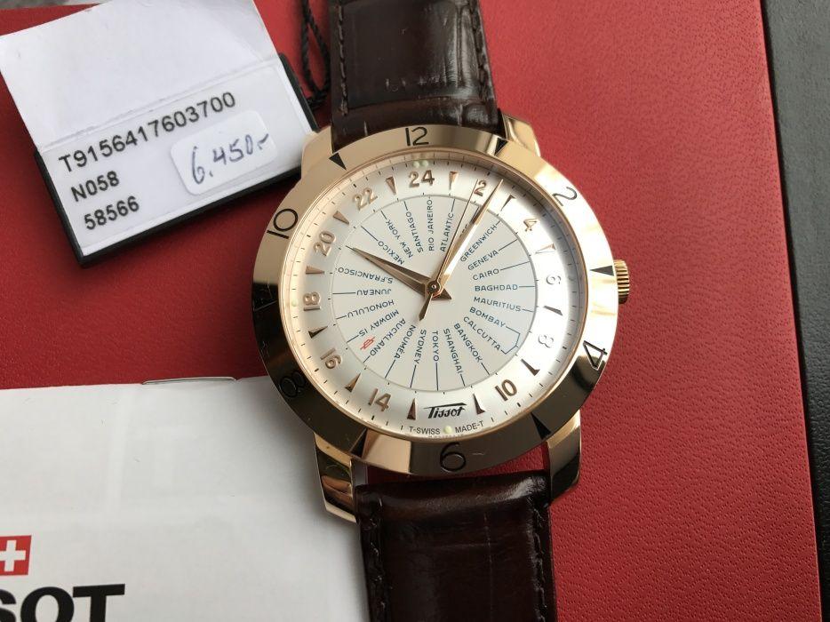 Мужские золотые часы Tissot 750 проба