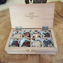 Birthday Anniversary Mahogany Wooden Custom Made Chocolate Box