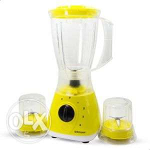 """Grouhy EH-G-033201-SW.E Blender With 2 Grinders 400 Watt Yellow """"خلاط"""""""