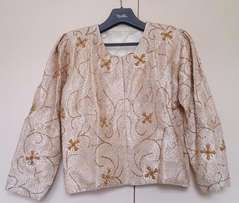 Brocade Top/Jacket with Intricate Indian Zari Embroidery on Front