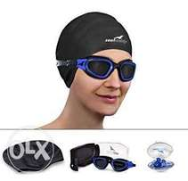 Swimming cap and goggle
