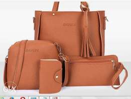 Jingpin 4 In 1 Ladies Leather Bag