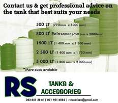 Save Water – Tanks & Accessories Available