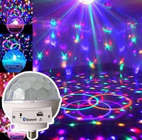LED crystal magic ball light with Bluetooth Speaker and MP3
