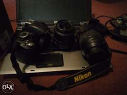 Nikon d3100 For Sale with 18-105mm lens and a free 18-55mm lens.