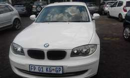 BMW 118i Model 2011 5 Doors Colour White Factory A/C & MP3 Player