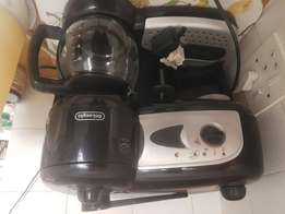 Coffee maker and grinder