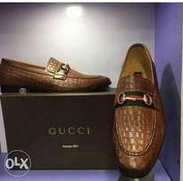 Brown designer gucci leather shoes