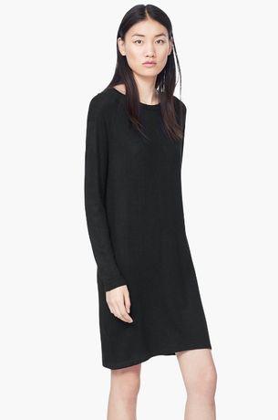 b2ba852946 MANGO czarna dzianinowa sukienka Basic guziki masa perłowa minimalizm  Wrocław - image 1