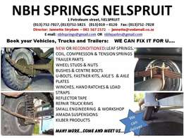 NBH Springs Nelspruit - Coils, Leaf Springs and more