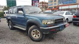 Toyota Landcruiser 80 Series, Blue, 4200 cc Diesel Turbo, Automatic, Y