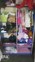 Children wardrobe wall-mounted. Blue n pink color combination