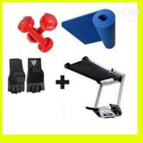 2.5HP Treadmill with Massger incline USB twister and dumbbell.