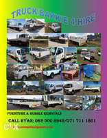 Trucks and Bakkies and trailers Hire, Rubble and Furniture Removals