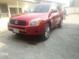 A clean Red colour 2008 Rav 4 available N 2,250mill
