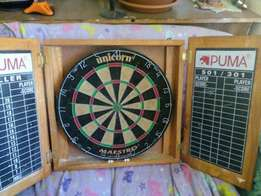 Unicorn mawstro dart board and cabnet