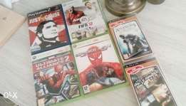 Ps2, PSP and Xbox 360 games