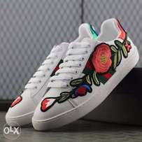 Gucci floral embroiled sneakers