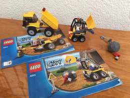 2 sets lego and 1 lego look alike -construction, mining, loader and ti