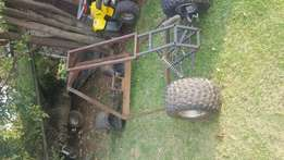 Pipe car frame and wheels for sale or swop.