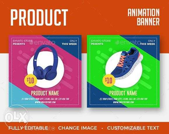 i will Design your ecommerce product social media banner, flyer, post